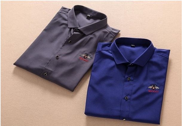Logo Embroidered Dress Shirts