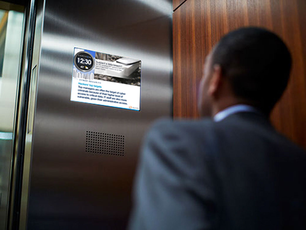 digital elevator advertising