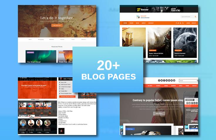 20+ blog pages
