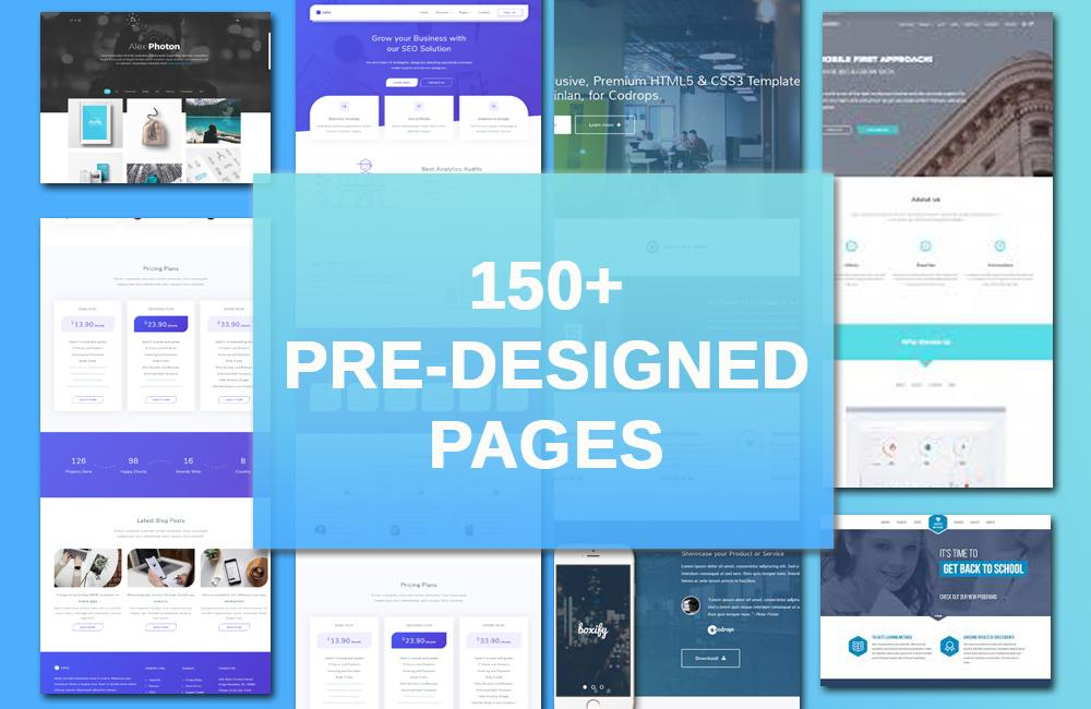 Bunch of Pre-Designed pages to choose from