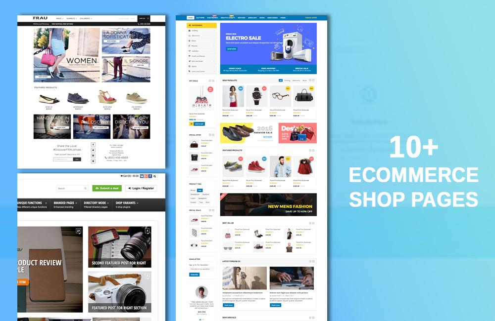 10+ E-Commerce shop pages